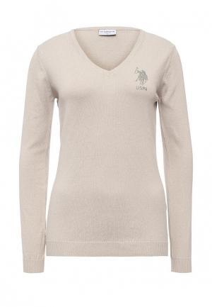 Пуловер U.S. Polo Assn.. Цвет: бежевый