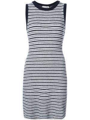 Полосатое платье-майка Rag & Bone. Цвет: чёрный