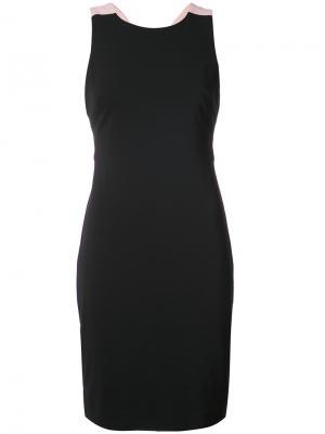 Bow-tied fitted dress Badgley Mischka. Цвет: чёрный