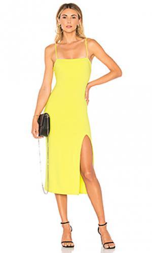 Платье миди skylar Lovers + Friends. Цвет: желтый