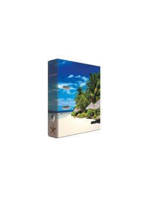 Регистратор ламинированный 8см Pierre Cardin Riviera Lagune. Цвет: голубой