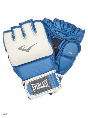 Перчатки тренировочные MMA Grappling Everlast. Цвет: синий