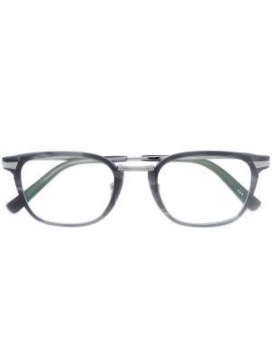 Очки в квадратной оправе Masunaga. Цвет: серый