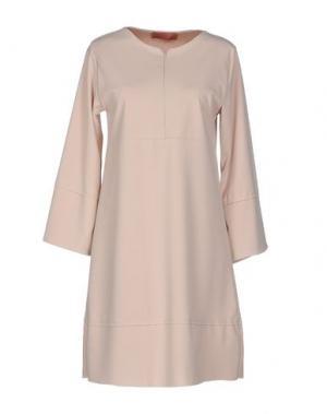 Короткое платье AGATHA CRI. Цвет: бежевый