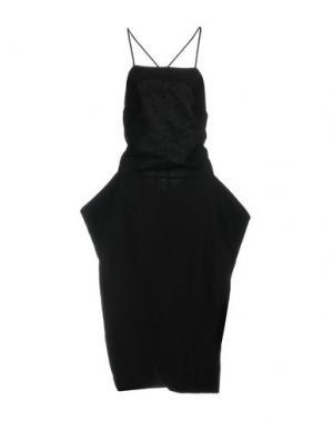 Платье до колена NOSTRASANTISSIMA. Цвет: черный