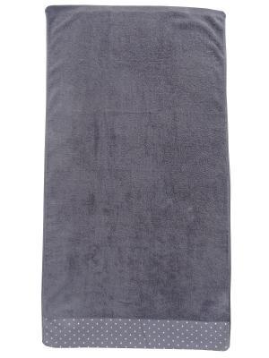 Полотенце лицевое A and C Collection. Цвет: серый