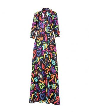 Длинное платье BOUTIQUE MOSCHINO. Цвет: черный