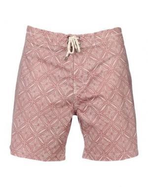 Пляжные брюки и шорты GLOBE. Цвет: красно-коричневый