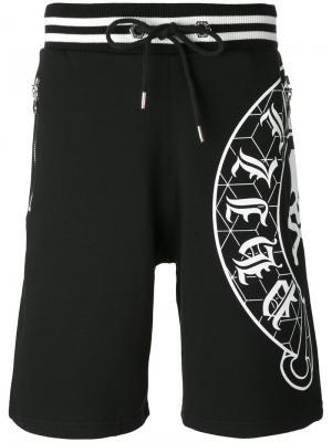 Спортивные шорты Look Philipp Plein. Цвет: чёрный