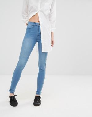 Dr Denim Голубые джинсы скинни Plenty. Цвет: синий