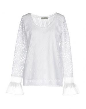 Блузка HEIMSTONE. Цвет: белый