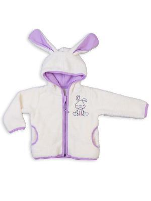 Куртка Апрель. Цвет: кремовый, фиолетовый