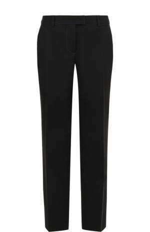 Однотонные брюки прямого кроя Fendi. Цвет: черный