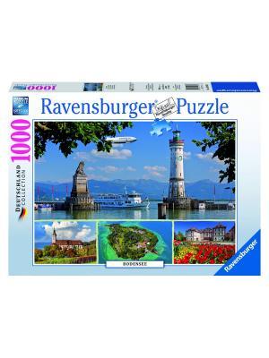 Пазл Боденское озеро,1000 шт Ravensburger. Цвет: синий