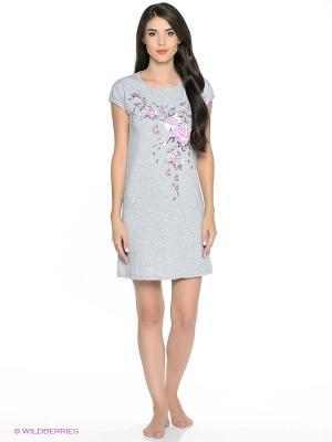 Сорочка ночная женская MARSOFINA. Цвет: серый