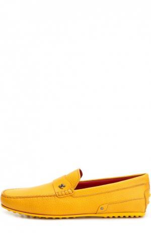 Кожаные мокасины Gommino Ferrari Tod's. Цвет: желтый