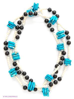 Ожерелье ГАНГ. Цвет: голубой, белый, черный