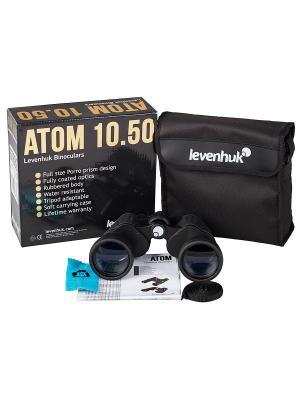 Бинокль Atom 10x50 Levenhuk. Цвет: черный