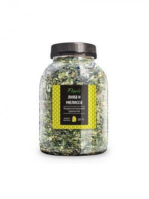 Floris Натуральный крымский травяной чай Липа и Мелисса, банка ПЭТ, 50 гр. Цвет: прозрачный