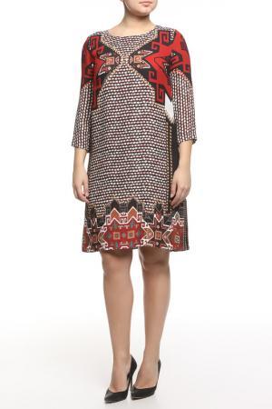 Платье CLASS ROBERTO CAVALLI. Цвет: черно-красный