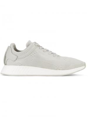 Кроссовки NMD R2 Primeknit Air Boost Sole Adidas X Wings + Horns. Цвет: серый