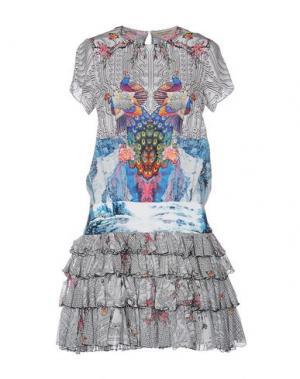 Короткое платье PICCIONE•PICCIONE. Цвет: светло-серый