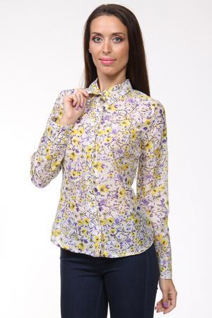 Блуза Evalinka. Цвет: мультицвет