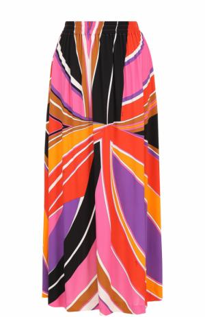 Юбка-миди с ярким принтом Emilio Pucci. Цвет: розовый