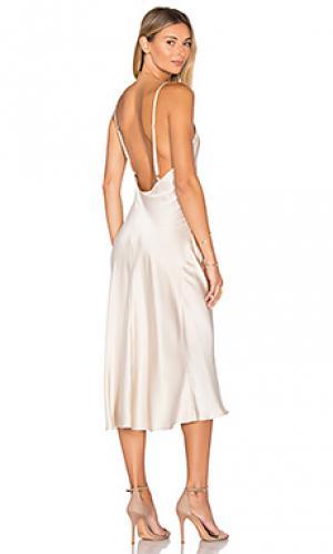 Платье-комбинация Amanda Uprichard. Цвет: румянец