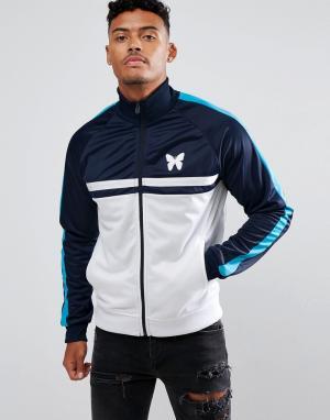 Good For Nothing Темно-синяя спортивная куртка с белыми вставками. Цвет: темно-синий