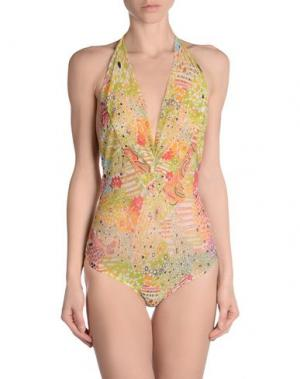 Пляжное платье EMAMÒ. Цвет: кислотно-зеленый