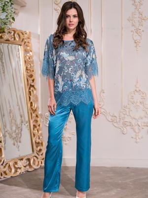 Пижама MIA-AMORE. Цвет: синий