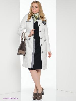 Пальто Brillare. Цвет: белый