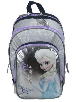 Рюкзак. Disney Frozen. Цвет: светло-серый,серебристый,сиреневый