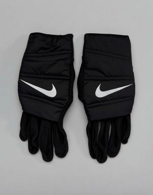 Nike Running Черные стеганые перчатки RG.I9-042. Цвет: черный