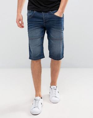 Solid Синие джинсовые шорты. Цвет: синий