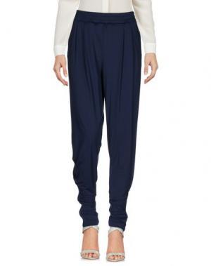 Повседневные брюки OBLIQUE CREATIONS. Цвет: темно-синий