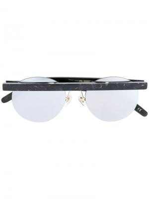Солнцезащитные очки в круглой оправе Han Kjøbenhavn. Цвет: чёрный