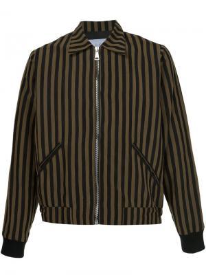 Куртка-бомбер в полоску Second/Layer. Цвет: чёрный