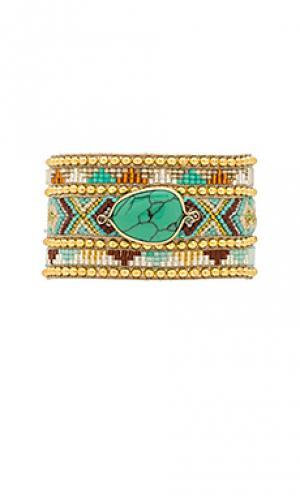 Двойной браслет jaya HiPANEMA. Цвет: металлический золотой