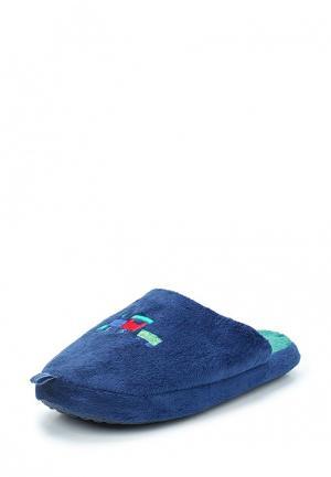Тапочки Piazza Italia. Цвет: синий