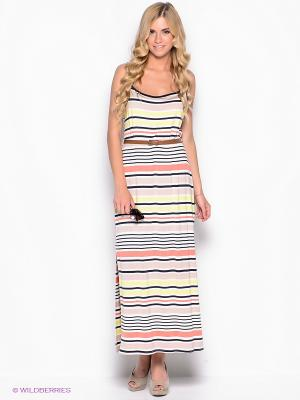 Платье New Look. Цвет: бежевый, молочный, коралловый, желтый