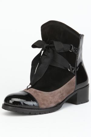 Ботинки, байка OSSO. Цвет: серый