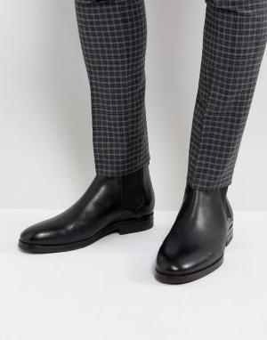 Hudson London Черные кожаные ботинки челси Tonti. Цвет: черный