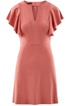 Платье oodji. Цвет: карамельный