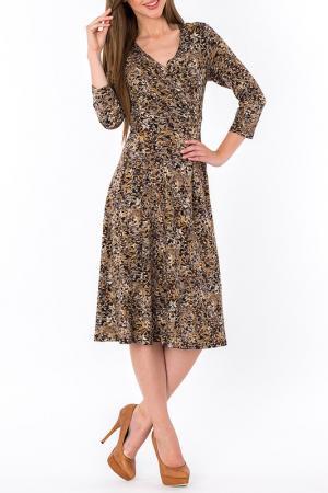 Платье S&A style. Цвет: бежево-коричневый