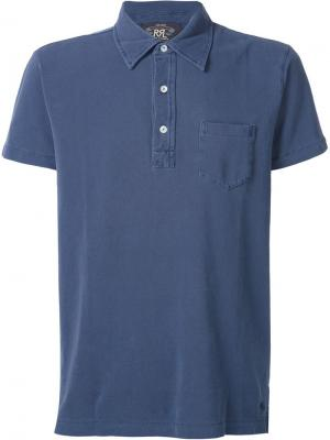 Классическая футболка-поло Rrl. Цвет: синий