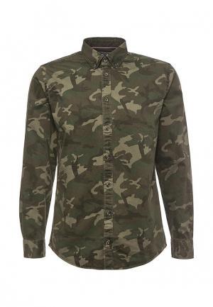 Рубашка Tommy Hilfiger. Цвет: хаки