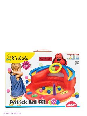 Сухой игровой бассейн Патрик K'S Kids. Цвет: красный