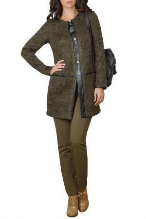 Пальто E.LEVY. Цвет: зеленый